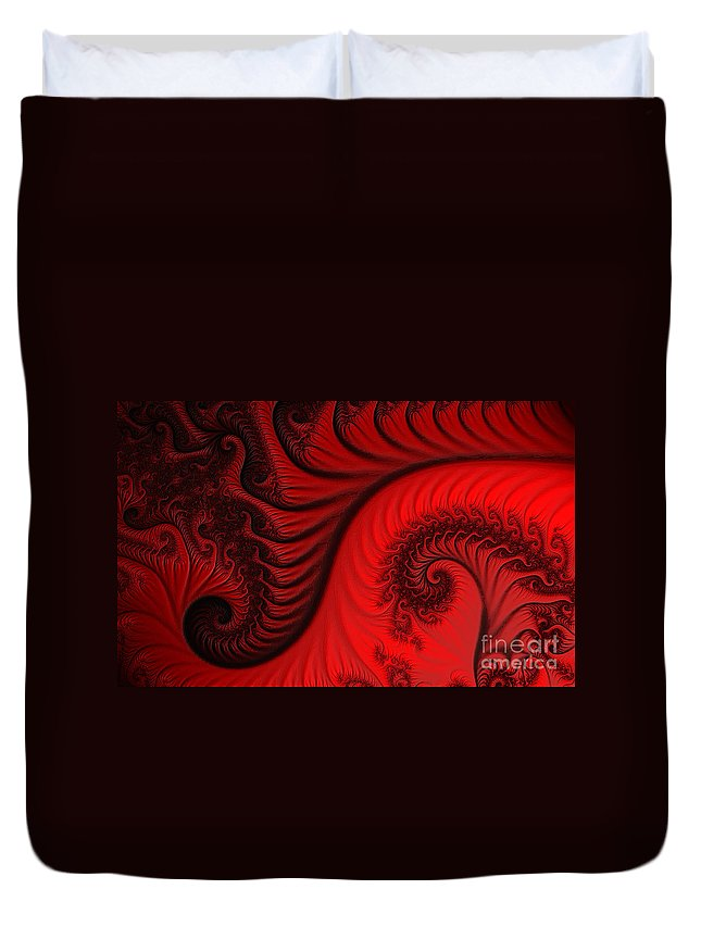 Clay Duvet Cover featuring the digital art Red Ants by Clayton Bruster