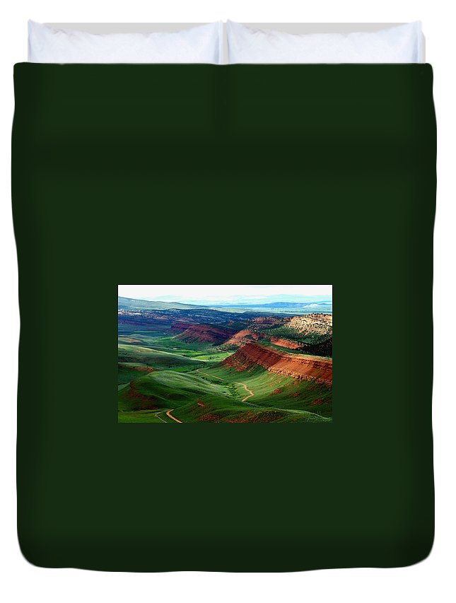 Jenny Gandert Duvet Cover featuring the photograph Red Canyon by Jenny Gandert
