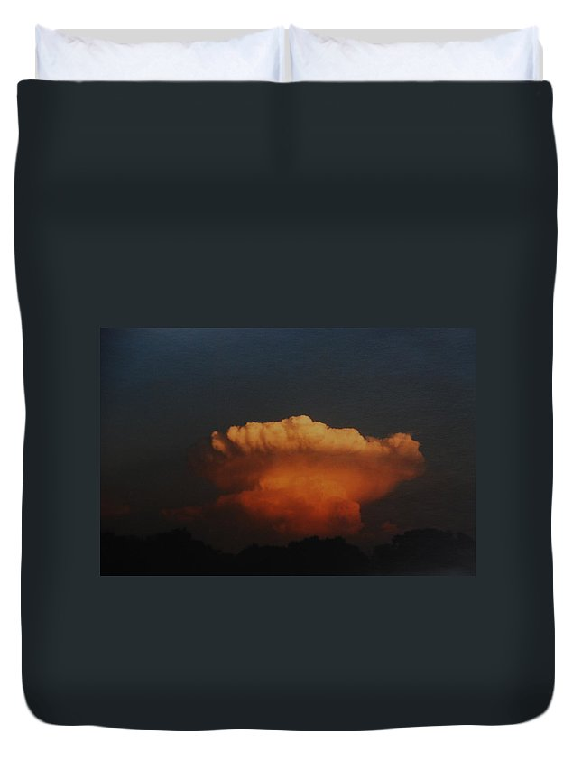 Clouds Duvet Cover featuring the photograph Red Cloud by Rob Hans