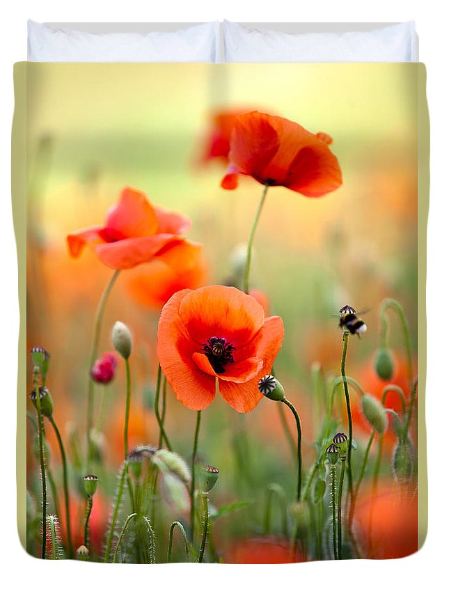 Red Flower Duvet Covers