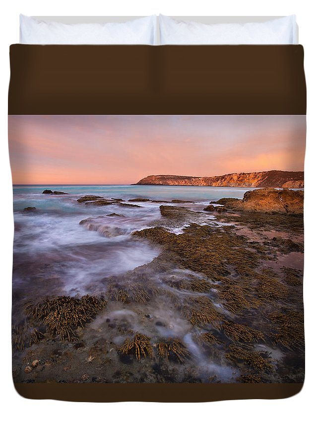 Sunrise Duvet Cover featuring the photograph Red Dawning by Mike Dawson