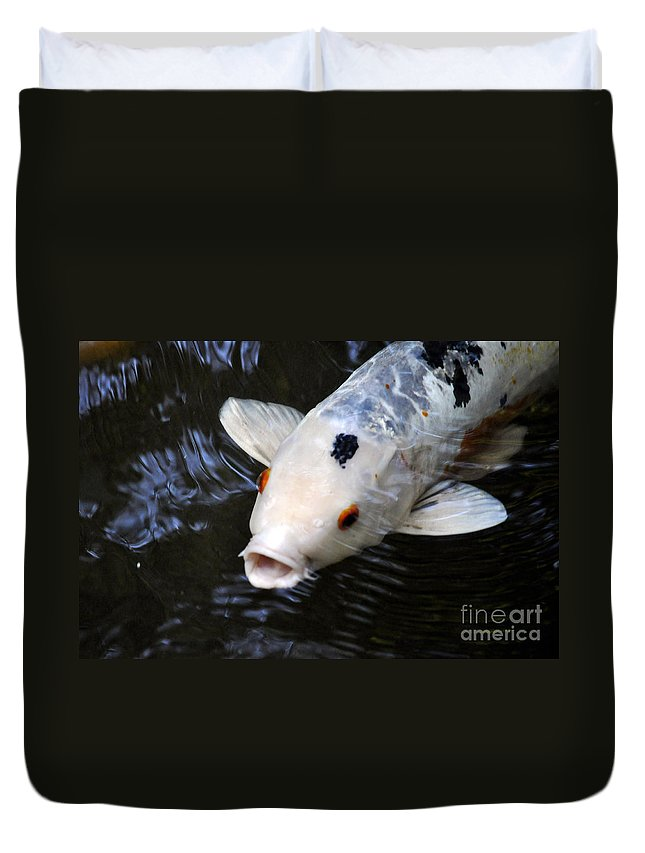 Clay Duvet Cover featuring the photograph Red Eyes by Clayton Bruster