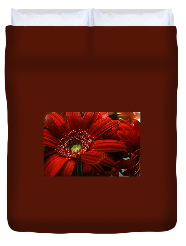 Clay Duvet Cover featuring the photograph Red Floral by Clayton Bruster