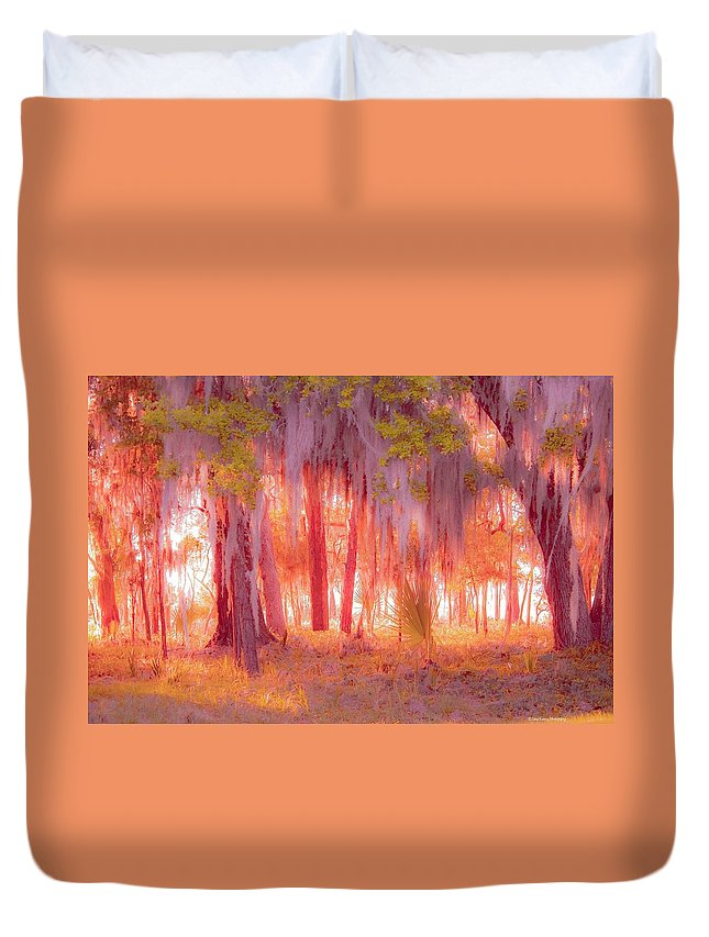 Red Duvet Cover featuring the photograph Red Forest by Janal Koenig