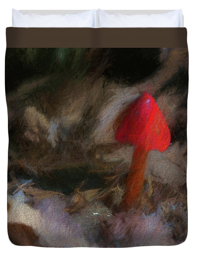 Poison Duvet Cover featuring the photograph Red Forest Mushroom by Marvin Spates