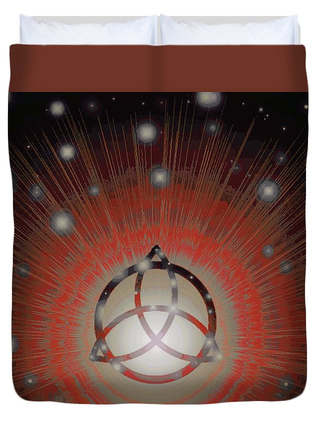 All Duvet Cover featuring the digital art Red Giant by Jerry Lawhead