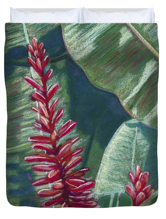 Among Duvet Cover featuring the painting Red Ginger by Patti Bruce - Printscapes