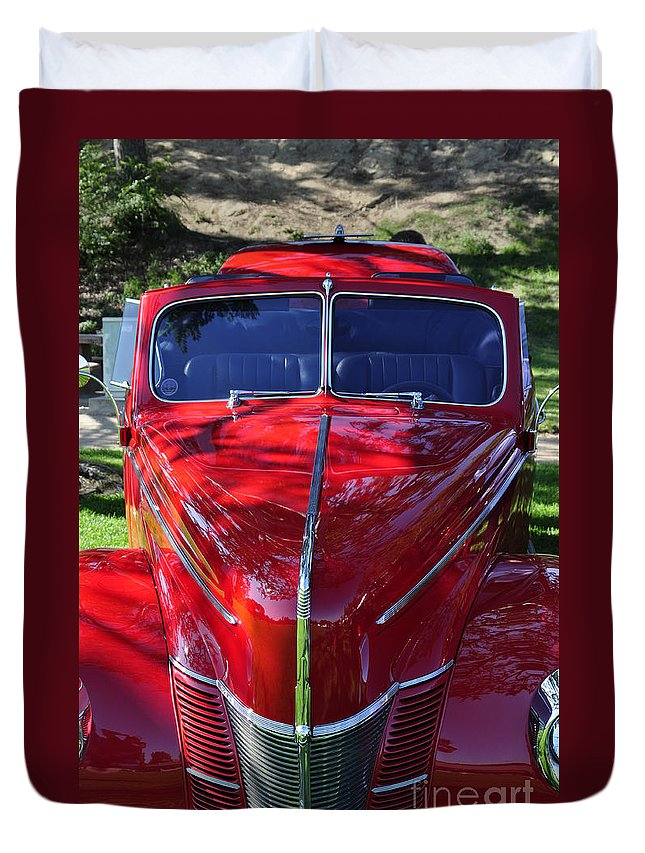 Clay Duvet Cover featuring the photograph Red Hot Rod by Clayton Bruster