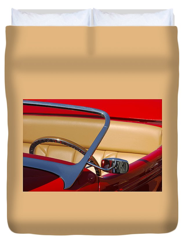 Car Duvet Cover featuring the photograph Red Hot Rod by Jill Reger