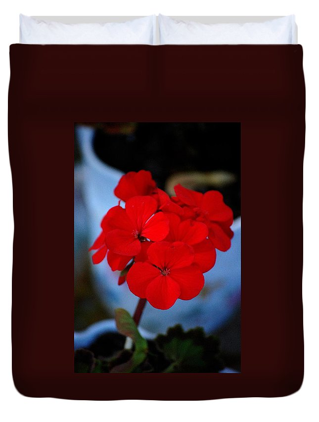 Duvet Cover featuring the photograph Red Menace by David Lane