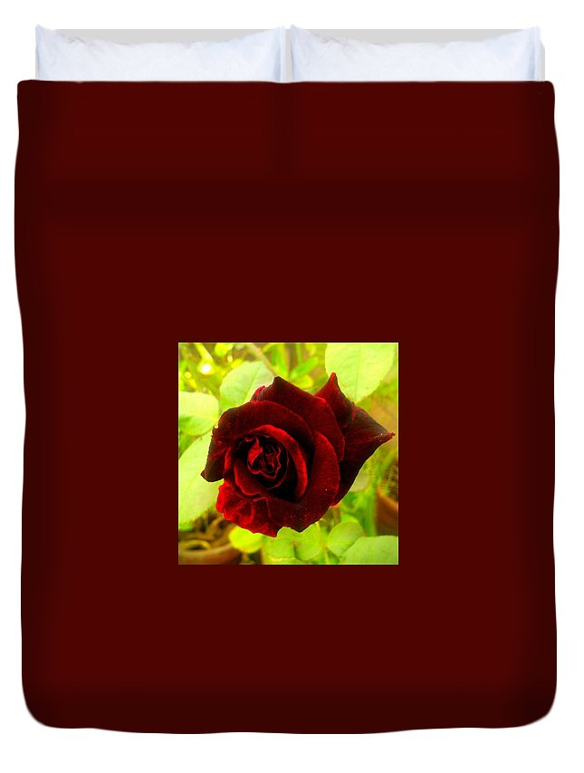 Duvet Cover featuring the photograph Red Nature by Prateek Jangid