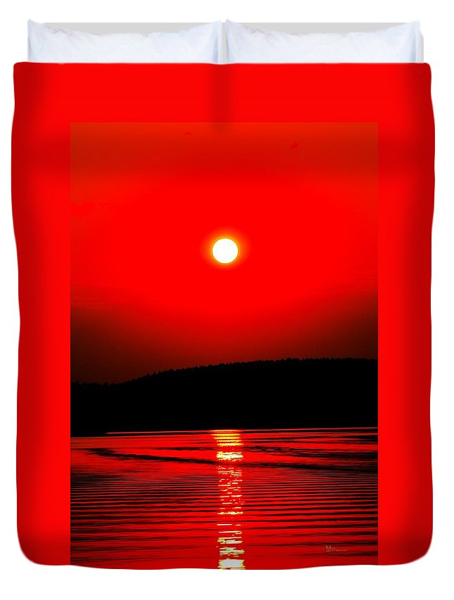 Emotion Duvet Cover featuring the photograph Red Power by Max Steinwald