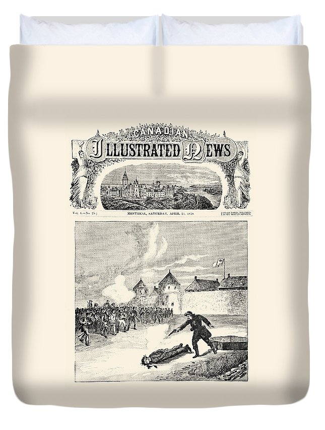 1870 Duvet Cover featuring the photograph Red River Rebellion, 1870 by Granger