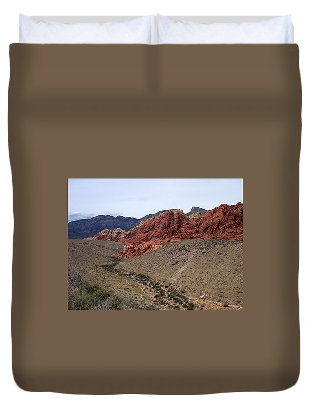Red Rock Canyon Duvet Cover featuring the photograph Red Rock Canyon 1 by Anita Burgermeister
