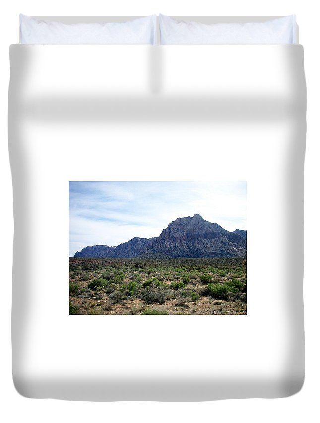 Red Rock Canyon Duvet Cover featuring the photograph Red Rock Canyon 3 by Anita Burgermeister