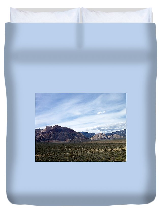 Red Rock Canyon Duvet Cover featuring the photograph Red Rock Canyon 4 by Anita Burgermeister