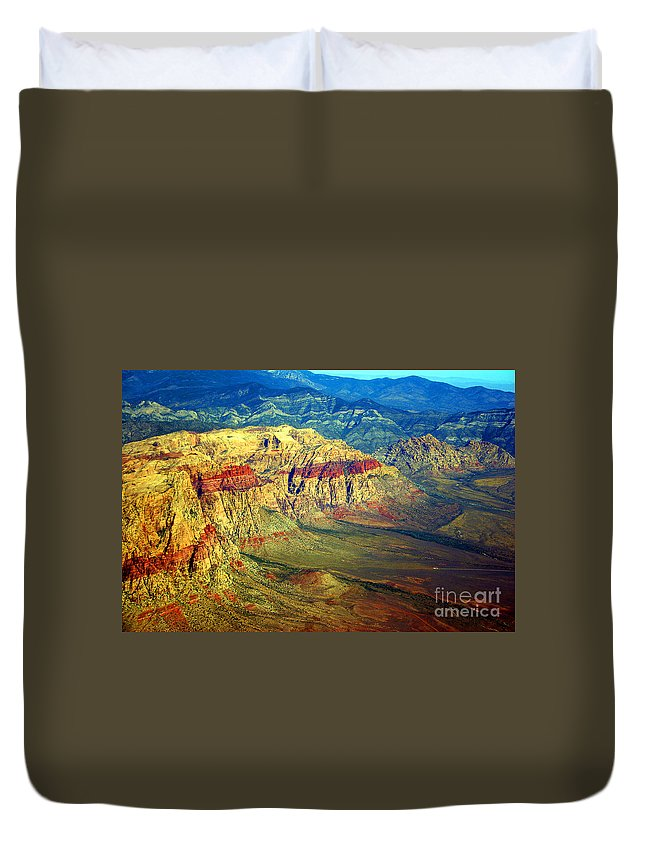 Red Rock Duvet Cover featuring the photograph Red Rock Canyon Nevada by James BO Insogna