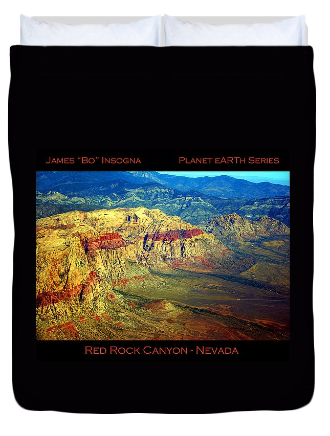 Red Rock Canyon Duvet Cover featuring the photograph Red Rock Canyon Poster Print by James BO Insogna