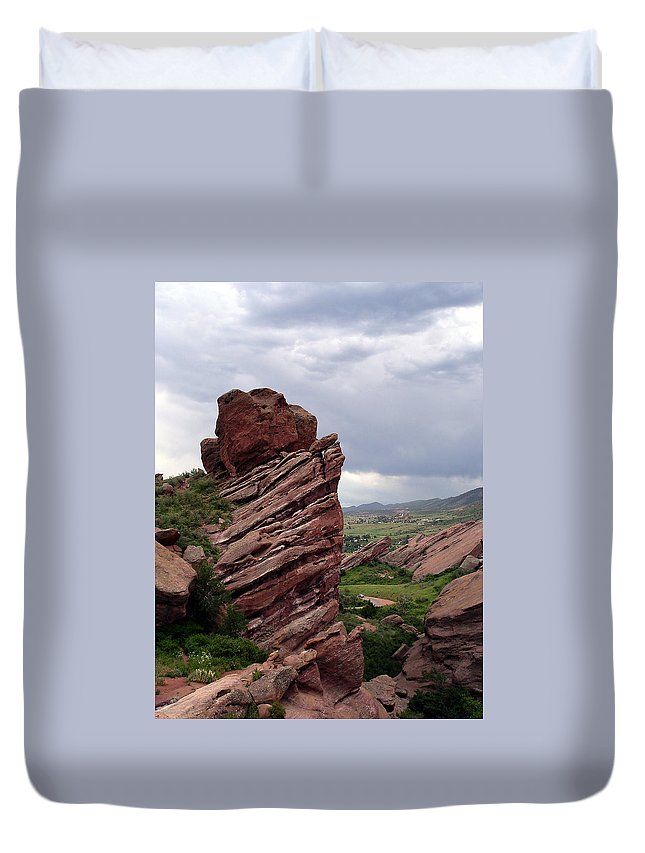 Red Rocks Duvet Cover featuring the photograph Red Rocks Colorado by Merja Waters