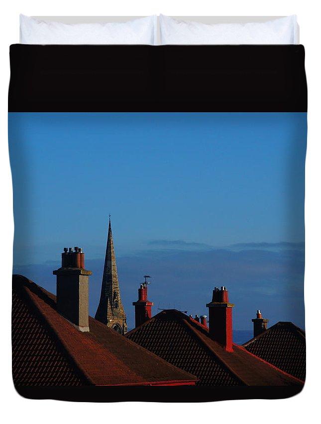 Nik Watt Duvet Cover featuring the photograph Red Roofs by Nik Watt