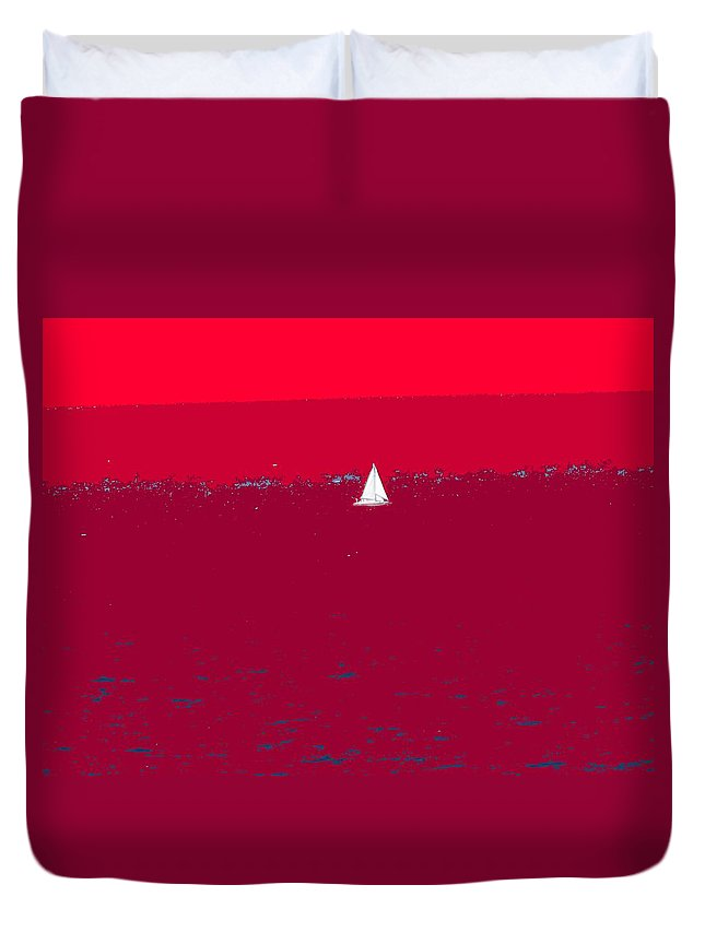 St Kitts Duvet Cover featuring the photograph Red Sea by Ian MacDonald