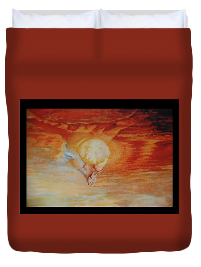 Angels Duvet Cover featuring the photograph Red Sky by Rob Hans