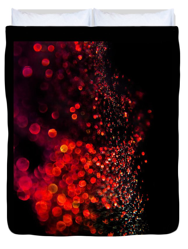 Abstract Duvet Cover featuring the photograph Red Spell by Alex Art and Photo
