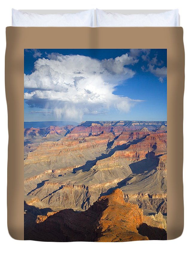 Grand Canyon Duvet Cover featuring the photograph Red Storm Rising by Mike Dawson