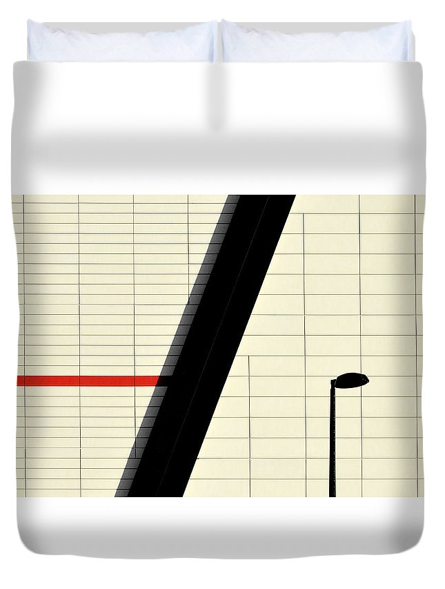 Urban Duvet Cover featuring the photograph Red Stripe by Stuart Allen