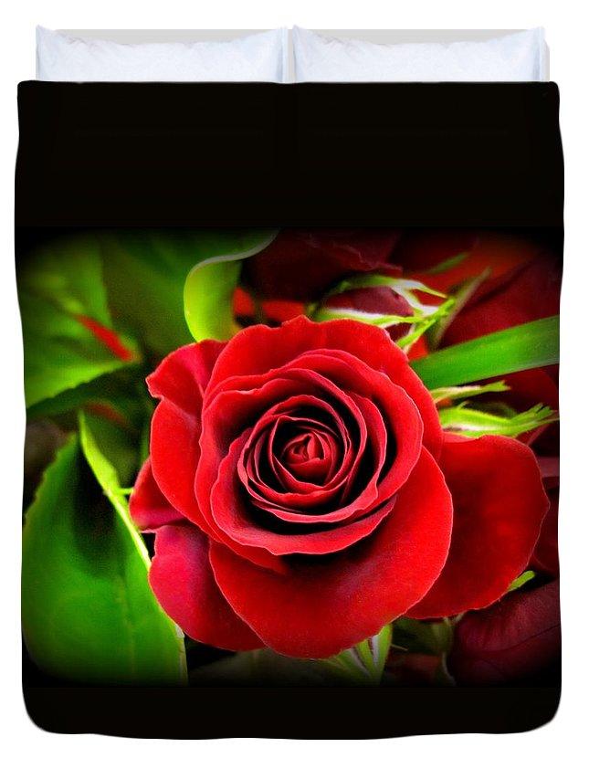 Roses Duvet Cover featuring the photograph Red Velvet by Bonita Brandt