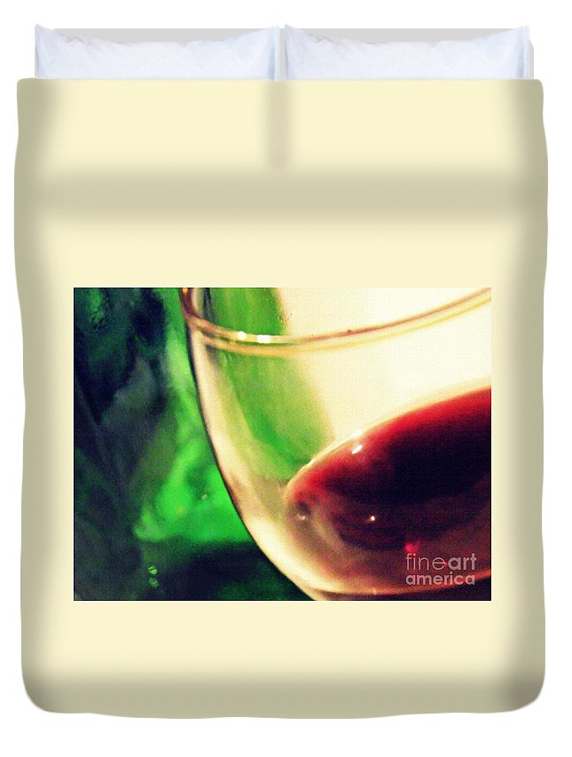 Wine Duvet Cover featuring the photograph Red Wine by Sarah Loft