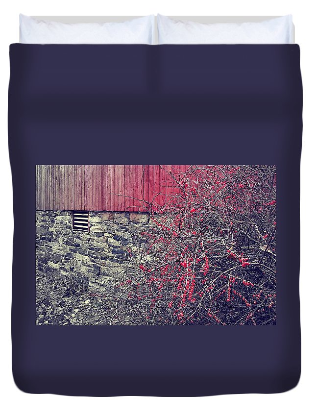 Barn Duvet Cover featuring the photograph Red Winter by JAMART Photography