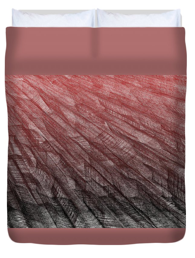 Rithmart Duvet Cover featuring the digital art Red.385 by Gareth Lewis