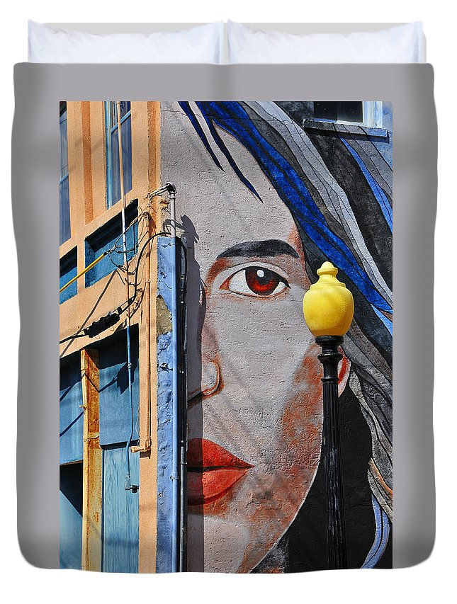 Skip Hunt Duvet Cover featuring the photograph Redeye by Skip Hunt