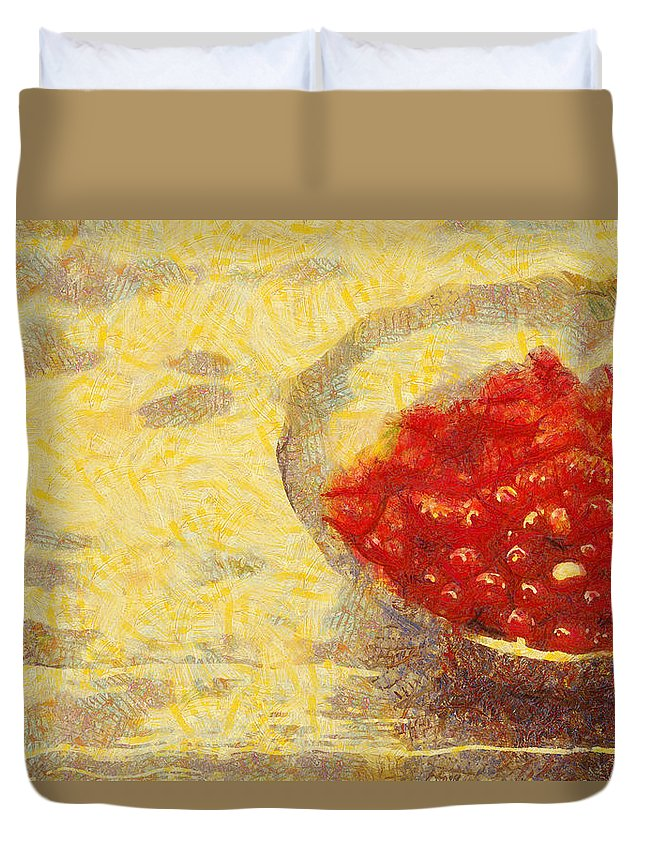 Still Life Duvet Cover featuring the digital art Redkurrants by Scott Smith