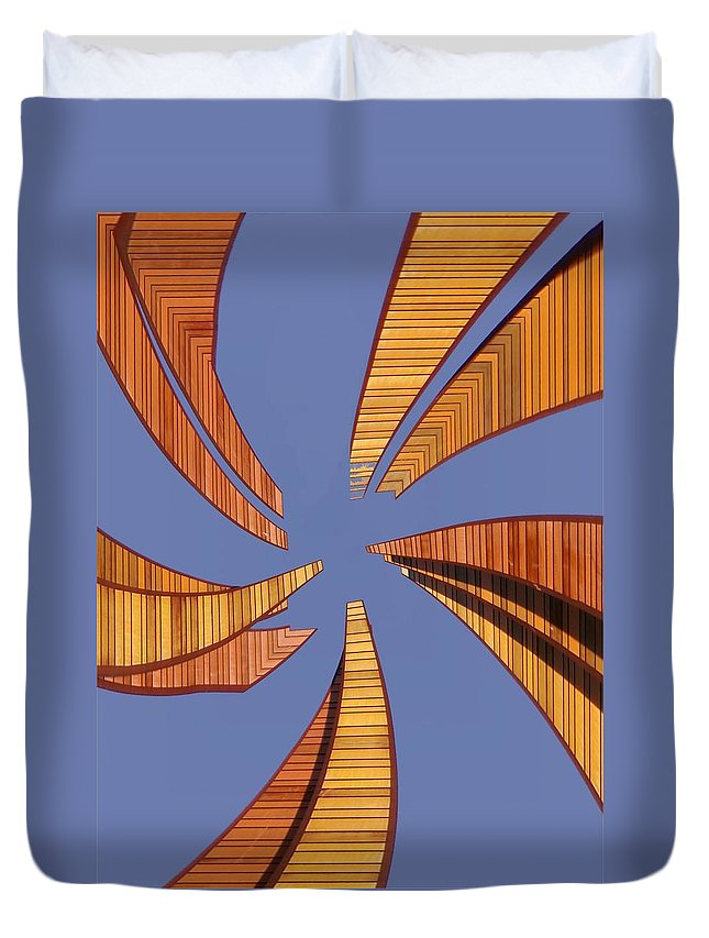 Seattle Duvet Cover featuring the digital art Reeds 2 by Tim Allen