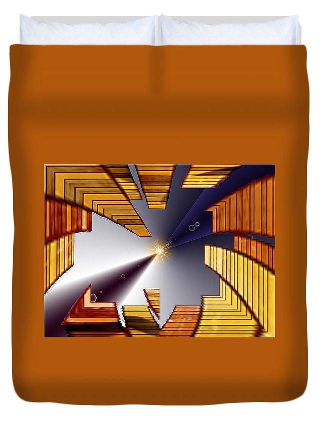 Seattle Duvet Cover featuring the digital art Reeds 3 by Tim Allen