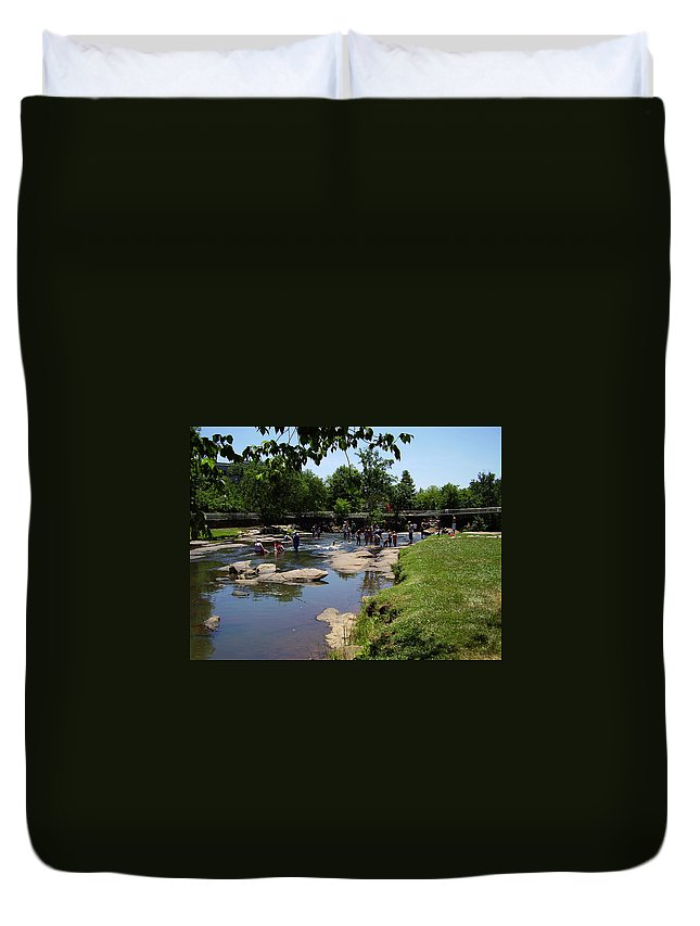 Reedy River Duvet Cover featuring the photograph Reedy River by Flavia Westerwelle
