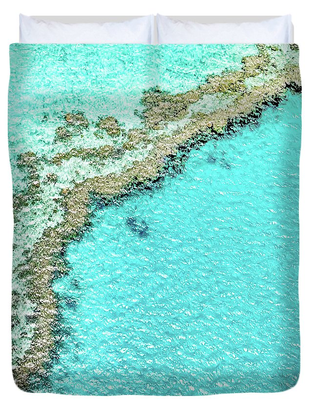 Australia Duvet Cover featuring the photograph Reef Textures by Az Jackson