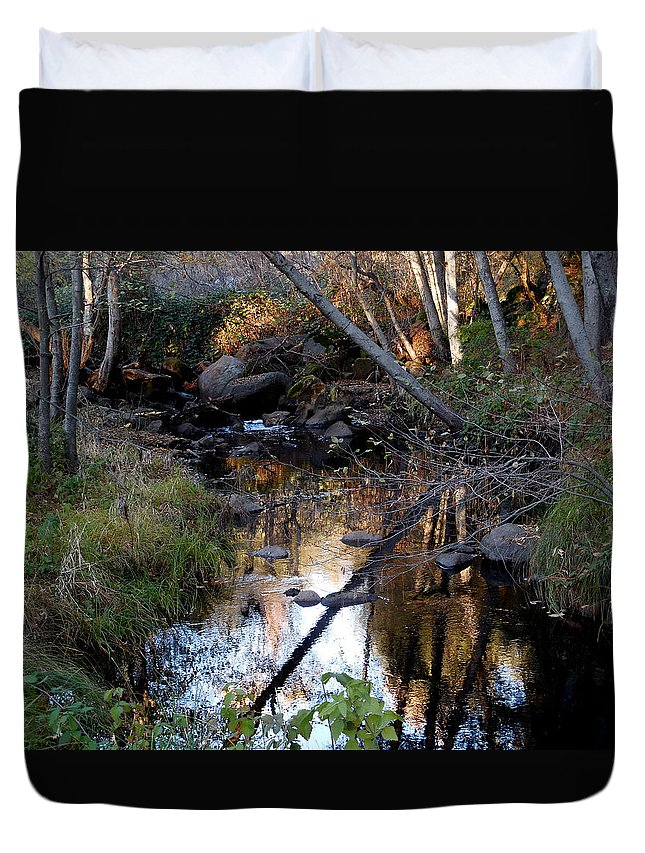 Reflect Upon Autumn Duvet Cover featuring the photograph Reflect Upon Autumn by Chris Gudger