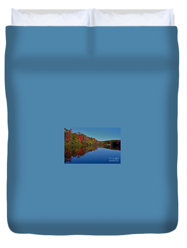 Autumn Duvet Cover featuring the photograph Reflected Color by Rick Monyahan