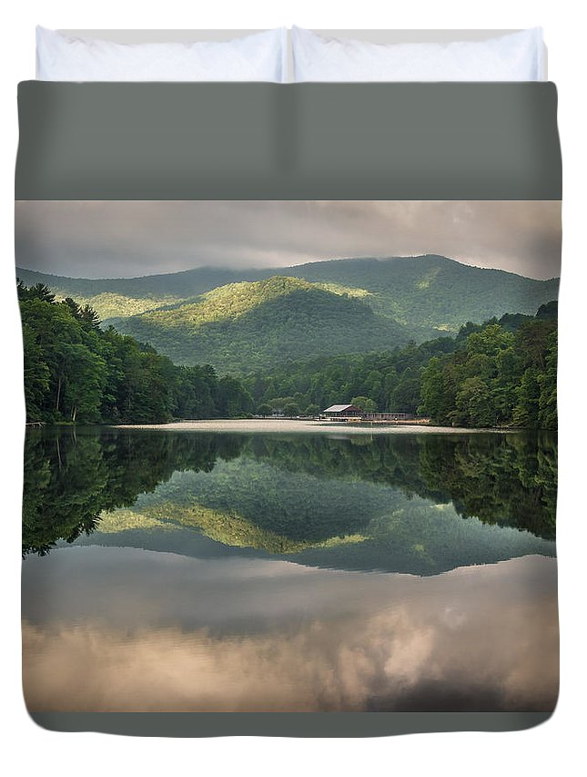 Mountain Duvet Cover featuring the photograph Reflecting At Vogel by Jason Clemmons