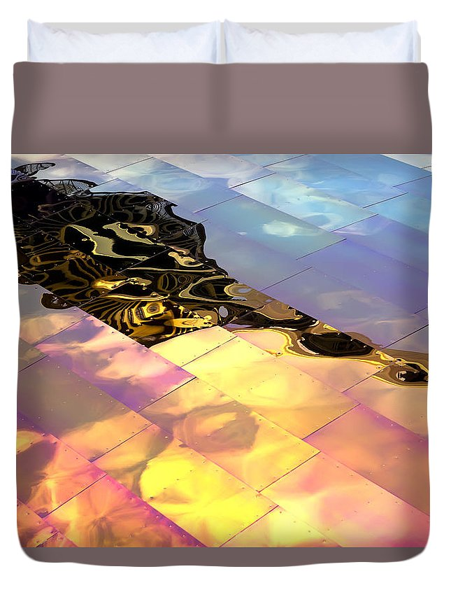 Emp Duvet Cover featuring the photograph Reflecting Back by Janet Fikar