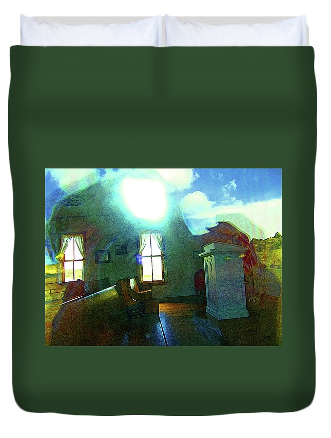 Abstract Duvet Cover featuring the photograph Reflecting On The Spirit Of Things by Lenore Senior