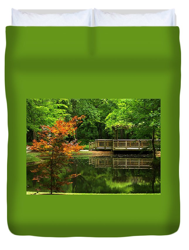 Water Duvet Cover featuring the photograph Reflecting Pool by Russell Adams