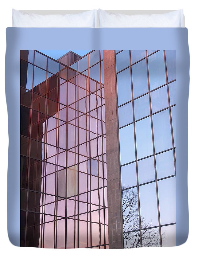 Reflection Duvet Cover featuring the photograph Reflecting Sundown by Ann Horn