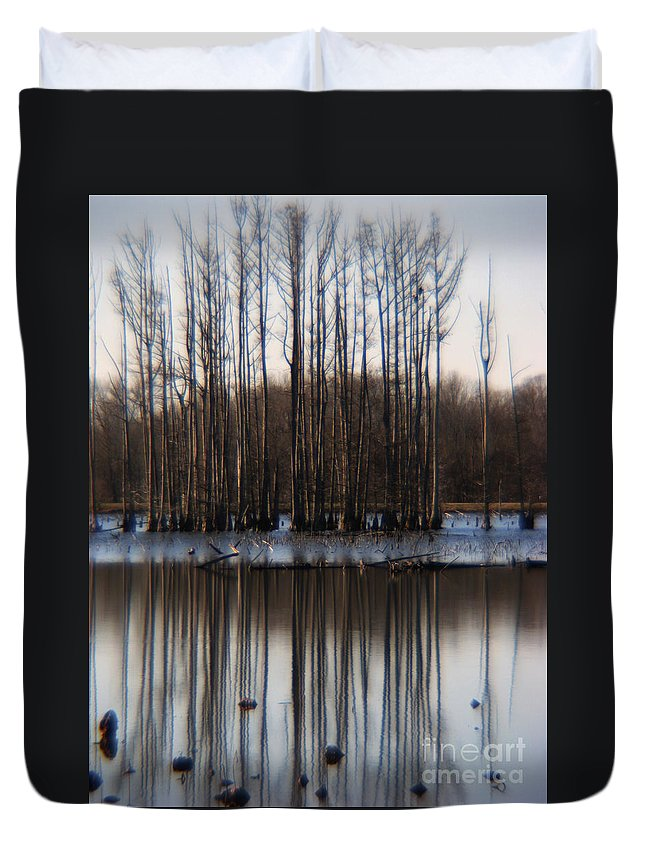 Nature Duvet Cover featuring the photograph Reflection by Amanda Barcon