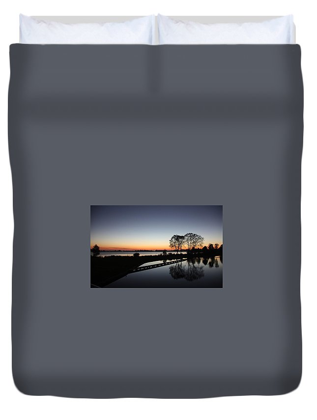 Reflection Duvet Cover featuring the digital art Reflection by Dorothy Binder