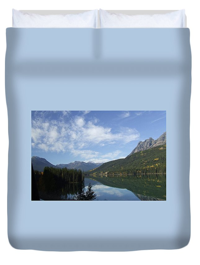Reflection Duvet Cover featuring the photograph Lake Reflection by Tiffany Vest