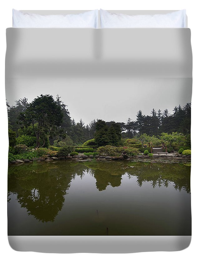 Duvet Cover featuring the photograph Reflection by Jade Woods